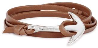 Miansai Brown Leather Wrap Bracelet
