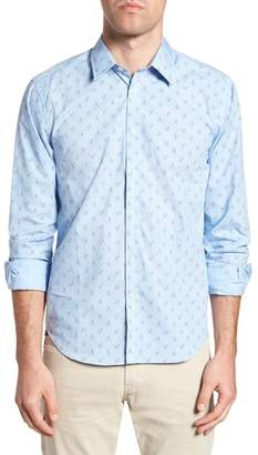 JEREMY ARGYLE Slim Fit Lobster Print Sport Shirt