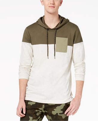 American Rag Men's Colorblocked Hooded Pocket T-Shirt, Created for Macy's
