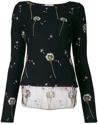 Blugirl dandelion embroidered jumper