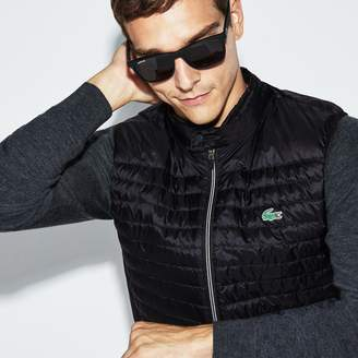 Lacoste Men's SPORT Water-Resistant Quilted Technical Golf Vest