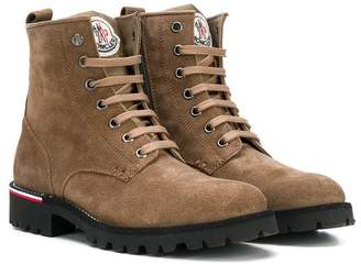 Moncler logo patch ankle boots