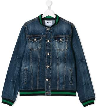MSGM (エムエスジーエム) - Msgm Kids TEEN logo patch denim jacket