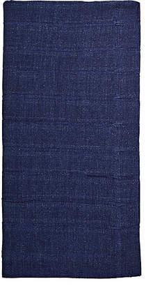 Deborah Rhodes Pleated Linen Napkin - Navy