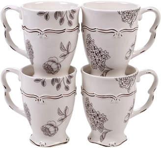 Certified International Vintage Set Of 4 20Oz Mugs