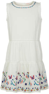 Fat Face Girls' Bella Embroidered Dress, White