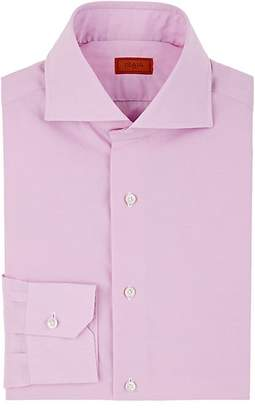 Isaia Men's Micro-Checked Cotton Dress Shirt