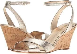 Nine West Women's Kami Metallic Wedge Sandal