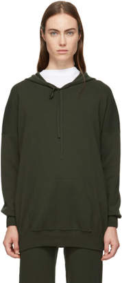 Live the Process Green Oversized Knit Hoodie