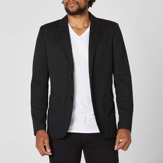 DSTLD Mens Knit Blazer in Black