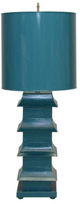 Worlds Away Pagoda Lamp Large With Metal Shade