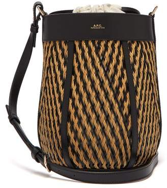 A.P.C. Garance Woven Leather Cross Body Bag - Womens - Black