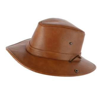 at Amazon Canada · Epoch Hats Company Men s Faux Leather Safari Fedora with  Chin Cord cbbcea0f4c5b