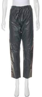 Les Chiffoniers Mid-Rise Leather Pants w/ Tags Grey Mid-Rise Leather Pants w/ Tags