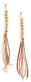 Ettika Tassel Metallic Statement Earrings $45 thestylecure.com