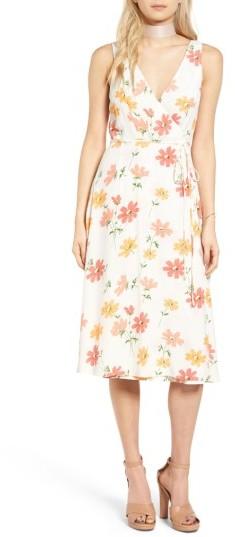Women's Privacy Please Wilson Wrap Midi Dress