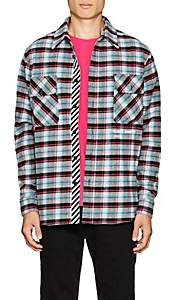 Off-White Men's Checked Cotton-Blend Flannel Shirt