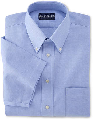 STAFFORD Stafford Travel Short-Sleeve Wrinkle-Free Oxford Dress Shirt