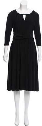 Ellen Tracy Keyhole-Accented Midi Dress