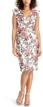 Rachel Roy Lydia Lace Print Sheath Dress