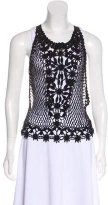 Alberta Ferretti Embellished Sleeveless Top