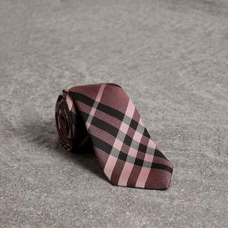 Burberry Modern Cut Check Silk Tie