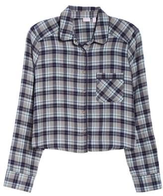 Make + Model Crop Flannel Pajama Top