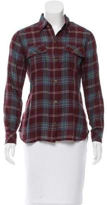 Current/Elliott Plaid Long Sleeve Button-Up w/ Tags