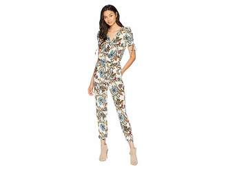 Juicy Couture Ornate Floral Paisley Silk Jumpsuit Women's Jumpsuit & Rompers One Piece