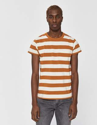 Levi's S/S 1950's Sportswear Tee in Thin Stripe Rust
