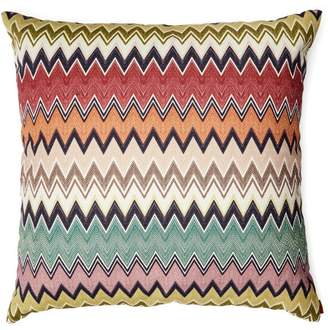 Missoni Home Togo Cotton And Linen Blend Cushion - Green Red