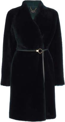 Karen Millen Sheepskin Belted Coat