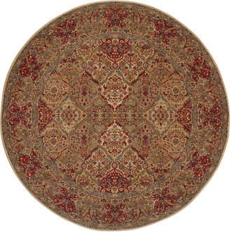 """Karastan Original 719 Empress Kirman 8'8"""" Round Area Rug"""