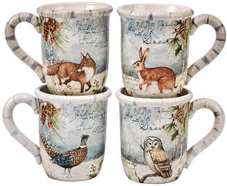 Certified International Winter Lodge 4-Pc. Mugs
