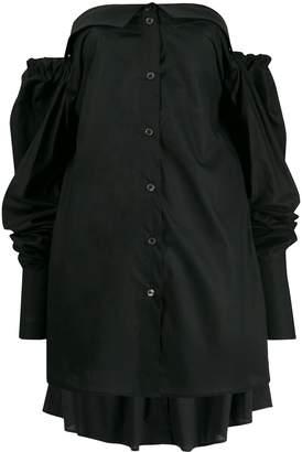 Ann Demeulemeester strapless long-sleeve top