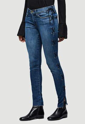 Frame Le Skinny Side Lace Up Jean