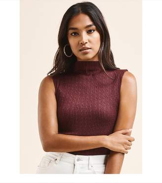 Dynamite Sheer Textured Tank WINETASTING BURGUNDY