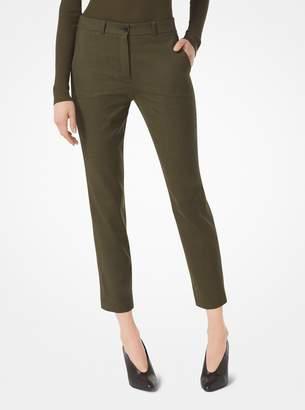 Michael Kors Samantha Stretch Tropical-Wool Pants