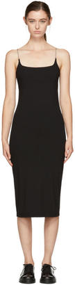 T by Alexander Wang Black Chain Camisole Dress