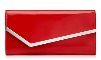 Jimmy Choo ERICA Red Patent and Suede Clutch Bag