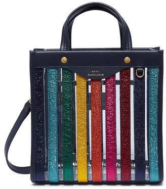 Anya Hindmarch Metallic rainbow stripe PVC tote
