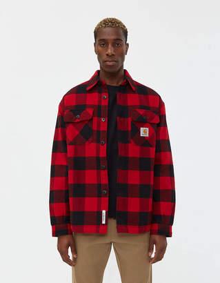 Carhartt Wip Merton Flannel Shirt Jacket in Cardinal Check