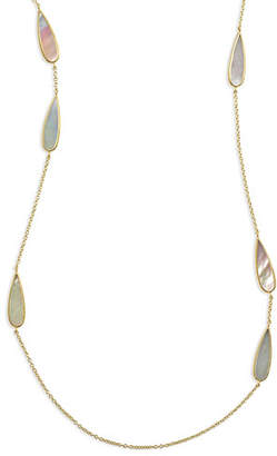 Ippolita 18K Polished Rock Candy Mother-of-Pearl Station Necklace