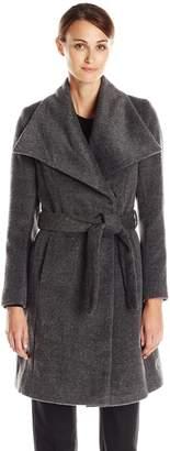 T Tahari Women's Mia Belted Wrap Coat