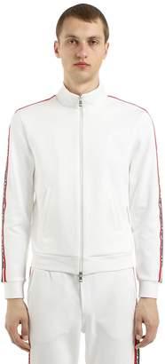 Moncler Logo Stripes Nylon Sweatshirt