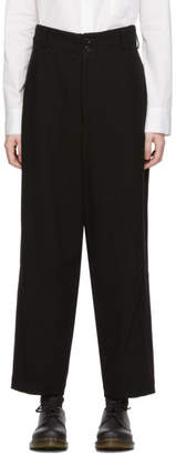 Y's Ys Black U-Tapered Trousers