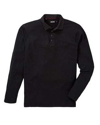 Jacamo Black Label By Black L/S Stretch Polo R