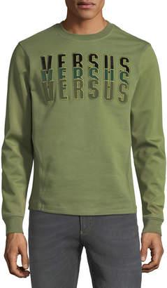 Versace Versus Embroidered Sweatshirt, Green