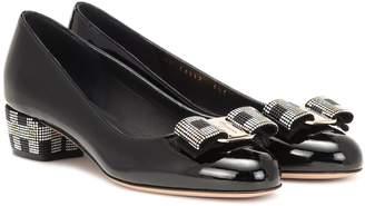 Salvatore Ferragamo Vara Bow patent leather pumps