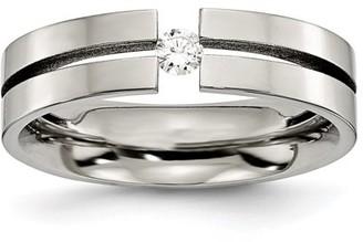 Primal Steel Titanium 6mm Diamond Polished Band